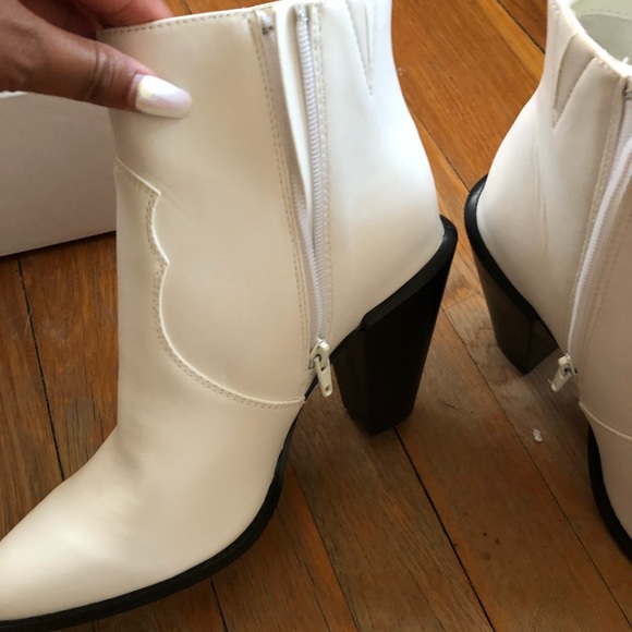 world-wide renown cost charm cozy fresh Express White Western Booties